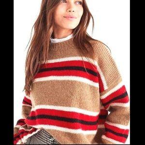 Urban Outfitters Striped Boyfriend knit sweater